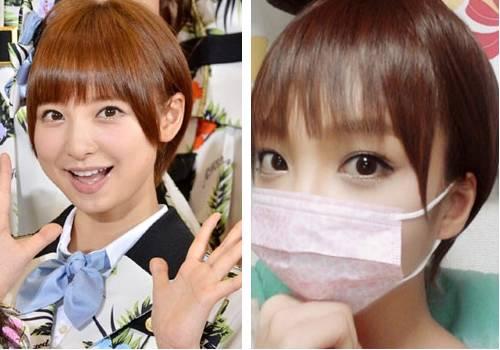 Zawachin imitando Mariko Shinoda do grupo AKB48.