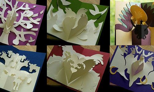 kirigami Cartões Pop-up