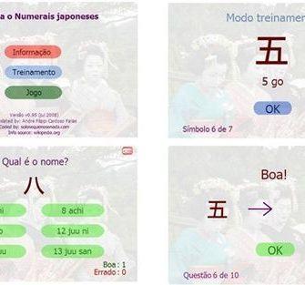 Joguinho Para Memorizar alfabeto e Números em Japonês