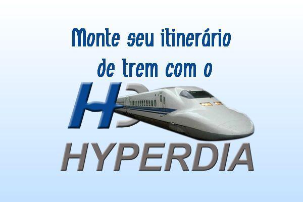 Itinerário de trem com Hyperdia