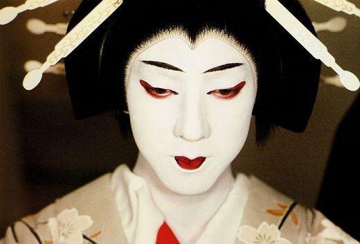 Ator de Kabuki Bando Tamasaburo V, famoso por seus papéis Onnagata