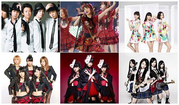 Grupos J-pop famosos no Japão