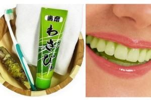 Pasta de dente de wasabi