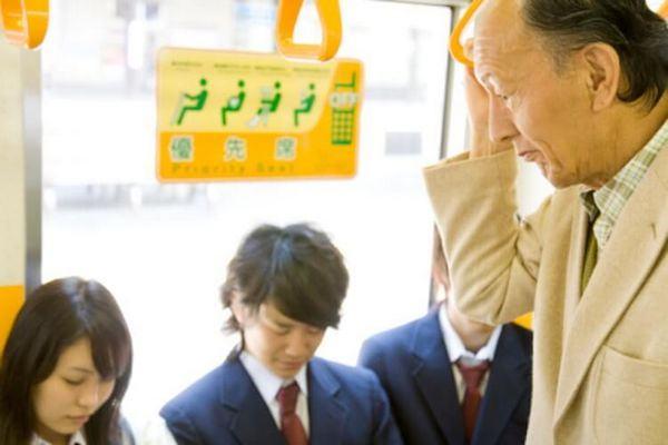 Prioridade em Transporte público no Japão