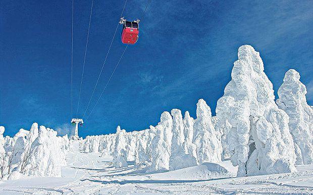 Os cinco melhores locais para ski no Japão