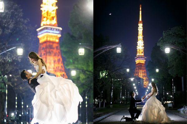 14 cenários deslumbrantes que os casais japoneses gostam de posar para fotos