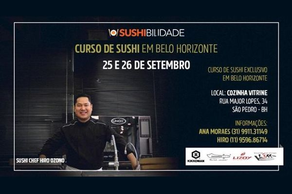 Curso de Sushi em Belo Horizonte Hiro Ozono