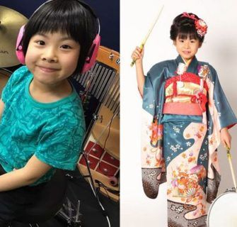 Conheça Yoyoka Soma, uma garotinha japonesa de 8 anos de idade que arrasa tocando bateria