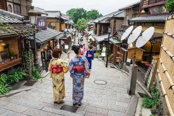 Vestir kimono em Kyoto Vestir quimono em Quioto