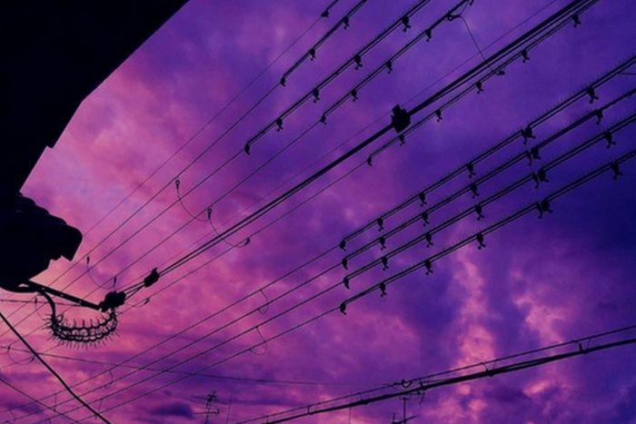 Antes da passagem do tufão Hagibis, o céu do Japão ganhou tons de roxo e púrpura