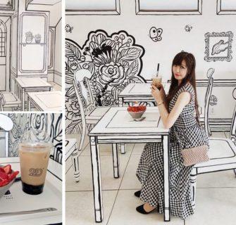 Este incrível café em 2D em Tóquio parece ter saído de uma história em quadrinho