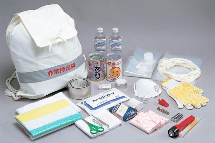 Kit de emergência no Japão